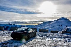 Drifting around (Alberto Cassandro) Tags: winter italy snow nikon porsche inverno montagna ontheroad dolomites dolomiti veneto caymans 2016 d810 albertocassandrophotography