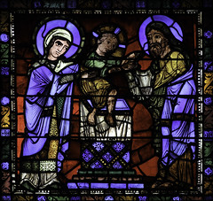 St Simeon holds the Christ Child (Lawrence OP) Tags: cathedral stainedglass biblical chartres jesuschrist ourlady blessedvirginmary stsimeon candlemas presentationofthelord