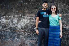 Meghan and Prem (Premshree Pillai) Tags: india me meghan kerala sabbatical kozhikode premshree indiajan16