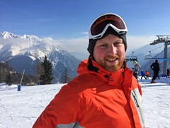 Darren at the top (Weekend Wayfarers) Tags: travel italy mountain snow mountains alps travelling italian travels europe italia exploring travellings wanderlust adventure explore skilift traveling courmayeur skitrip montblanc travelblog montebianco travelphotography morgex graianalps travelblogs travelblogger travelings travelbloggers graian travelblogging weekendwayfarers