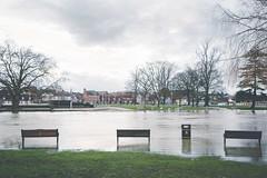 Flooded Avon (Sam Allard Photography) Tags: uk winter sunset england river landscape flood theatre holy trinity february avon warwickshire stratford upon midlands rsc