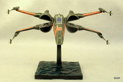 IMG_2157 (harrison-green) Tags: film movie star model fighter force space wing x xwing spaceship wars poe 172 bandai t70 awakens dameron incom