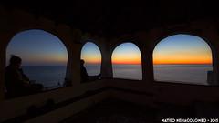 Looking at the sunset (Matteo Nebiacolombo) Tags: sunset sea church seaside riviera tramonto mare liguria genova portico rivieradilevante laspezia chiesetta bonassola riflessione tranquillit tramontoligure