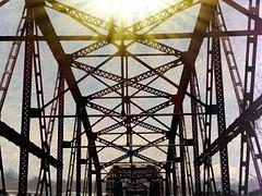 Bridge the Gap (clarkcg photography) Tags: bridge sky river dawn twilight iron time steel gap future past lookingback lookingforward daysgoneby