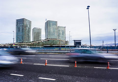 Metropol (BakiOguz) Tags: life road city winter sky sun building cars weather architecture clouds highway view flat outdoor sony tag istanbul architect shutter metropol a6000