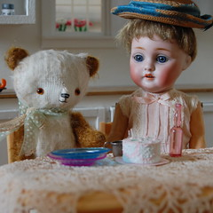 Old Friends (Emily1957) Tags: handmade lace antique bisque german ilse bismark belgianlace dewdropteddybears
