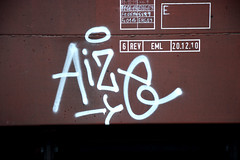 graffiti on freights (wojofoto) Tags: amsterdam graffiti freighttrain cargotrain aize freighttraingraffiti wolfgangjosten wojofoto vrachttrein