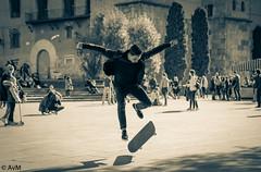 Skater (Ramireziblog) Tags: barcelona street canon flying candid skateboard skater airborn 6d