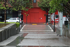 What is behind the red door? (JB by the Sea) Tags: sanfrancisco california urban sfmoma financialdistrict sanfranciscomuseumofmodernart march2016