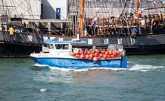 74/366 Inward bound - 366 Project 2 - 2016 (dorsetpeach) Tags: blue sea england orange boat dorset 365 tallship fishingboat weymouth buoy 2016 366 aphotoadayforayear 366project second365project