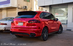 Porsche Cayenne GTS (958: 2014-present) (Ahmad Mortaja) Tags: red cars automobile candy exotic german porsche suv saudiarabia rare