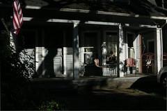 Front Porch (Blinking Charlie) Tags: seattle sunset usa house washingtonstate frontporch lightandshadow centraldistrict 2015 canonpowershots110 20thavenue centralarea blinkingcharlie