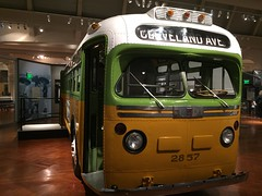 Henry Ford Museum (jericl cat) Tags: bus green history ford yellow museum mi america vintage cleveland alabama detroit henry american historical montgomery 1956 artifact 2015 2857