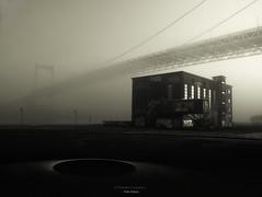 The Hole (Fredrik Lindedal) Tags: bridge blackandwhite monochrome misty fog göteborg nikon hole sweden gothenburg foggy sverige rödasten älvsborgsbron d7200 iamfredriklindedal