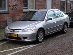 2004 Honda Civic IMA (harry_nl) Tags: netherlands honda utrecht nederland civic hybrid ima 2016 sidecode6 71ntlh