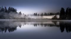 White Light (jeanmarie shelton) Tags: morning blue trees light sky white mist lake nature water fog night reflections dark landscape nikon shadows waterscape jeanmarie jeanmariesphotography jeanmarieshelton