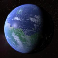 Terraformed & Populated Mars (Kevin M. Gill) Tags: mars space future computergraphics terraforming livingmars