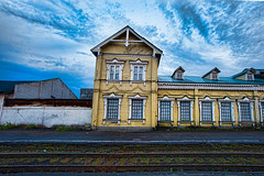 Old train station (alevtina.a) Tags: sky nature field countryside nikon russia country     ivanovo   nikondf