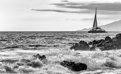 Kai Kanani (Kodjii) Tags: ocean travel vacation bw usa beach nature landscape island hawaii boat yacht maui hawaiian canon60d