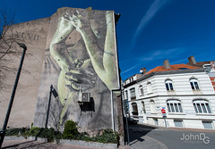 The Crystal Ship (John DG Photography) Tags: art belgium contemporary oostende wallpainting ostend artfestival crystalship