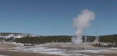 Old Faithful Geyser eruption (11:41-11:45 AM, 20 March 2016) (James St. John) Tags: old yellowstone wyoming geyser eruption faithful