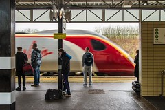 Creepin' (Nodding Pig) Tags: uk greatbritain england station electric train miltonkeynes central railway passengers virgintrains 2016 pendolino musicalreference westcoastmainline wcml class390 multipleunit 201602132114101