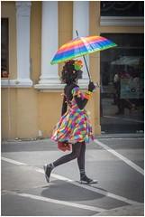 Happy Rainbow :) (JooPedro64) Tags: street brazil brasil arcoiris umbrella rainbow nikon walk bahia rua dx andar guardachuva ilhus d7200 18140mm