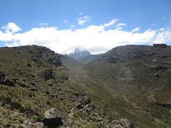 Looking towards Mount Kenya peaks (John Steedman) Tags: africa trek kenya afrika kenia afrique eastafrica mountkenya ostafrika     afriquedelest