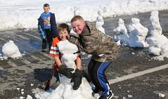 Closing Down The Road (wyojones) Tags: winter snow storm boys fun snowman snowmen wyoming winterstorm lander redcanyon southpass wyojones snowmenbuilders snowmanfanily southpasshighway wyoming28