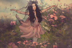 Violet~Floral Ballet (Skip Staheli (Clientlist closed)) Tags: ballet dance avatar dandelion sl digitalpainting fantasy secondlife dreamy virtualworld skipstaheli violetdaffordil