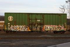 Silk Dmyse (BombTrains) Tags: road railroad art train bench graffiti paint arch tag graf silk rail spray shock graff uc freight fr8 benching dmyse shoch