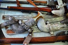 Guns and daggers (Neal J.Wilson) Tags: gulf traditional knife middleeast arabia guns knives arabian dagger oman weapons nizwa omani