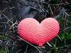 Crochet amigurumi heart (C h i ê u) Tags: macro heart bokeh crochet amigurumi