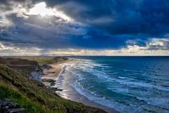 Stormy Whiterocks Beach (Otto-Mate) Tags: ocean sea seascape storm beach clouds landscape portrush antrim sunse whiterocks coantrim