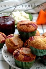 Magdalenas de requesn y frambuesa (extraosmaridajes) Tags: recipe dessert muffins fruta raspberry ricotta dulce receta mermelada magdalenas requesn magdalenasderequesnymermeladadeframbuesa