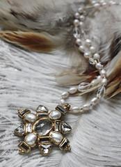 N-4191 (Kotomi_) Tags: vintage necklace costume handmade style jewelry medieval jewellery collection polymerclay historical period byzantine springsummer naturalstone semiprecious 2016  kotomi    kotomiyamamura kotomijewellery