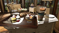 Where to begin (alexandriabrangwin) Tags: world life food art ice cake computer table dessert restaurant 3d graphics iron chairs sweet cream first bowl gazebo gourmet secondlife virtual passion elegant serving cgi flavours decadent alexandriabrangwin