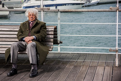 Porto Antico (Matthew on the road) Tags: old sleeping italy sun man port relax spring ancient italia time harbour sleep liguria genoa genova april springtime 2016 april2016