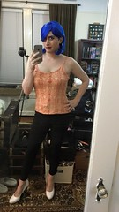 Funky Hair Fun (SecretJess) Tags: girls girly cd femme tgirl lgbt transvestite casual trans crossdresser crossdress gurl tg effeminate bigender genderfluid girlslikeus