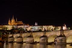 Prague at night. (Marco Wence) Tags: luz rio ro noche europa praga praskhrad verano vltava castillo castel pargue repblicacheca moldava romoldava torredaliborka marcowence castillodeparaga nocheseuropeas