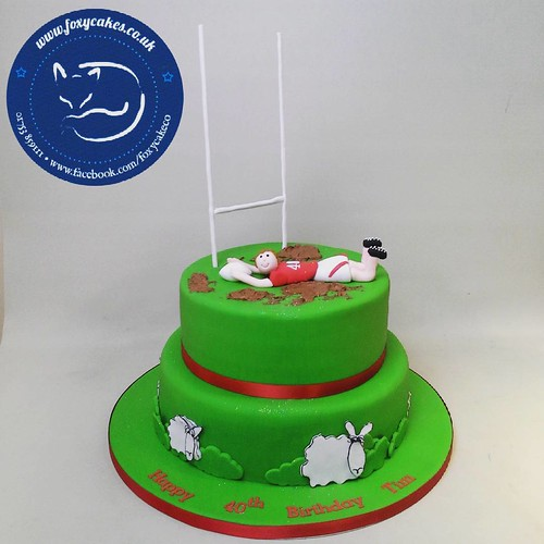 2 Tier Rugby Themed Birthday Cake Eton Thefoxycakeco Windsor