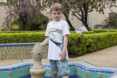 Balboa Park Fountain Investigator (aaronrhawkins) Tags: boy vacation fountain garden children funny sandiego joshua empty inspection dry drought inspector balboapark investigation elnino aaronhawkins