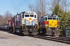 Delaware Lackawanna C425 2452 (rmssch89) Tags: old 3 mountains diesel pennsylvania antique smoke iii class alco pocono shortline