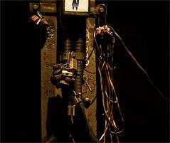 Locked (zilverbat.) Tags: nightphotography dutch night canon dark de focus iron dof nightshot image artistic bokeh steel postcard locks lint keulen krupp zilverbat