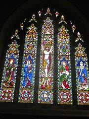 St Margaret's Church, Lewknor, Oxfordshire: stained glass window (John Steedman) Tags: greatbritain england church window unitedkingdom stainedglass oxfordshire stainedglasswindow stmargarets oxon grossbritannien  stmargaretschurch   grandebretagne lewknor
