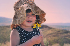 Bring me flowers (VeniceJoanNikole) Tags: flowers blue light sunset wild summer sky brown sun white mountain black flower love nature girl monochrome beautiful beauty grass hat sunshine silhouette yellow 30 skyline hair asian dessert photography photo kid spring eyes weeds toddler rocks day child heart natural state princess sweet walk nevada country trails dramatic 7 hike sierra hills clear nv dirt seven flare bloom filipino rae reno challenge edit sagebrush thirty mitchie huffaker