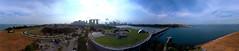 360 panoramic view of Marina South, Sinagpore (Erich Chew) Tags: kap kiteaerialphotography marinabarrage marinasouthsingapore 10ftdiyredrokkaku brooxesbeak