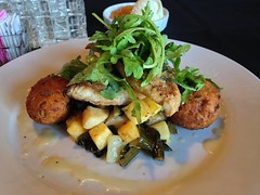RED FISH- FRESH CATCH OF THE DAY.. (carolynthepilot) Tags: travel food fish dinner ga georgia cuisine restaurant cafe amazing eating getaway 5 exploring meals crab tasty adventure explore foodporn greens catch romantic dining savannah veggies eats dinners weddingday fried mealtime heavenly redfish turnips claws mahi fritters arugula 2016 collards bonappetite healthychoice freshcatch panseared goldenwings rutabaga fishdinner romanticdining crabfritters oceanfood romanticdestination carolynbistline redfishdinner pansearedsoutherncharm