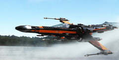 Black leader (hachiroku24) Tags: lake photoshop star fly starwars ship force lego wing xwing wars poe episode vii awakens dameron 75102 takodana