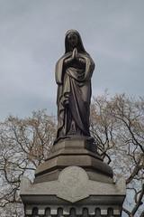 St. Boniface Cemetery (Gabrielle Gaia) Tags: sculpture chicago cemetery grave graveyard statue illinois catholic madonna statues il virginmary sculptures catholiccemetery stbonifacecemetery stbonifacecatholiccemetery